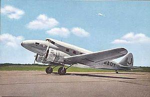 Japan Air Transport - Nakajima AT-2, used on routes between Tokyo, Japan and Hsinking, Manchukuo