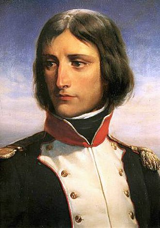 Napoleon - Napoleon Bonaparte, aged 23, lieutenant-colonel of a battalion of Corsican Republican volunteers. Portrait by Henri Félix Emmanuel Philippoteaux.