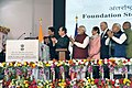 Narendra Modi and the President of France, Mr. Francois Hollande laying the foundation stone of International Solar Alliance HQ, in Gurgaon. The Governor of Punjab and Haryana and Administrator, Union Territory, Chandigarh.jpg