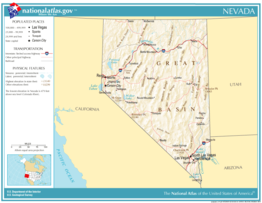 Kaart van State of Nevada