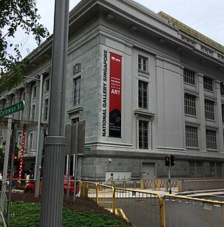 National Gallery Singapore Art museum in St. Andrews Road, Singapore