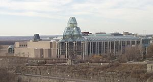 National Gallery of Canada - View of the National Gallery of Canada from Parliament Hill