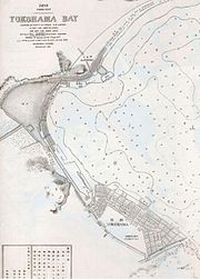 This nautical chart shows the Port of Yokohama in 1874.