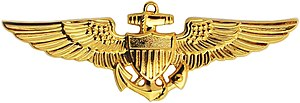 Robert H. Shumaker - Image: Naval Aviator Badge