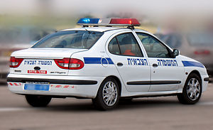 Military Police Corps (Israel) - A Renault Mégane patrol car