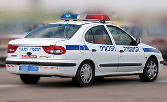 Military Police Corps (Israel) - A Renault Mégane patrol car