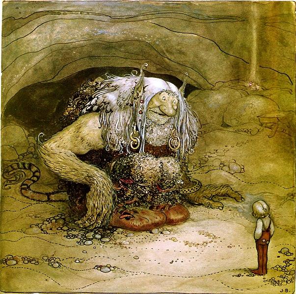 http://commons.wikimedia.org/wiki/File:Nej,_sicken_liten_puttefnasker!_Ropade_trollet.jpg