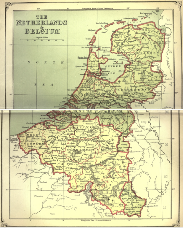 filenetherlands and belgium map from american cyclopaediapng