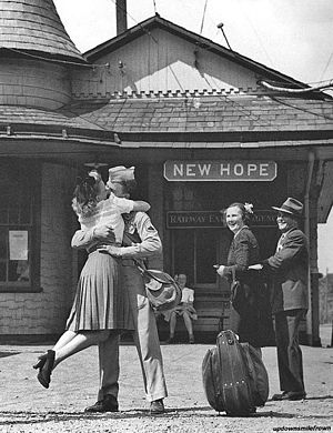 New Hope, Pennsylvania - New Hope Train Station 1945