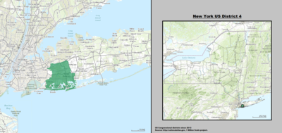New York 's 4th congressional district - since January 3, 2013.