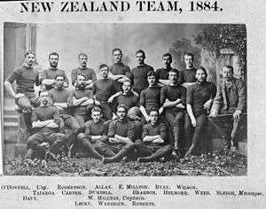 Rugby union in New Zealand - The 1884 team that toured New South Wales, Australia.