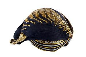 Blangkon - A Ngayogyakarta-style blangkon, worn for weddings