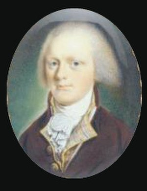 Nicholas Gilman - Portrait miniature of Gilman painted by John Ramage, c. 1790. Winterthur Museum