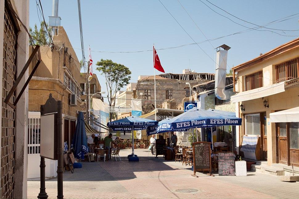 Nicosia Ledra street view from north