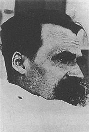 """A photo by Hans Olde from the photographic series """"The Ill Nietzsche"""", summer of 1899."""