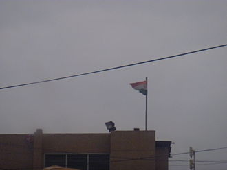 Flag of Niger - A Niger flag flying over Niger's embassy in Accra, Ghana