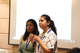 Nilam and Aditi presenting on Gender Gap session- First day (3).jpg