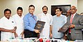 Nitin Gadkari witnessing the signing ceremony of an MoU between V.O. Chidambarnar Port Trust (VOCPT) and Tamil Nadu Generation and Distribution Corporation Limited (TANGEDCO) for upgradation of VOCPT's Coal Jetty-I & Coal.jpg