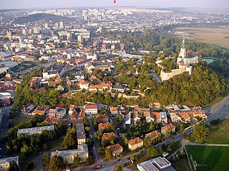 Nitra Castle - Nitra from above