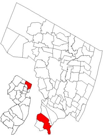 Lyndhurst, New Jersey - Image: Njmap 0232