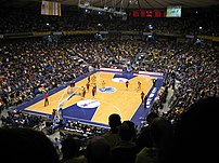 Nokia Arena from Gate 11, during a Maccabi Tel...