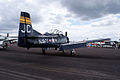 North American T-28B Trojan Navy N828JC RSideRear SNF 16April2010 (14628303574).jpg
