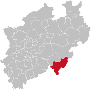 Siegen-Wittgenstein District in North Rhine-Westphalia, Germany