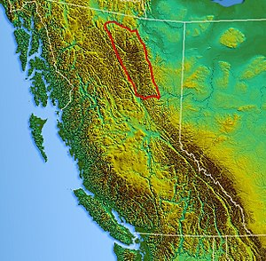 Muskwa Ranges - Image: Northwest relief Muskwa Ranges