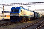 O'ZELR-0309 with freight train.jpg