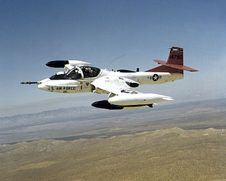 Cessna A-37 Dragonfly - An OA-37 Dragonfly aircraft armed with bombs over Edwards AFB, California