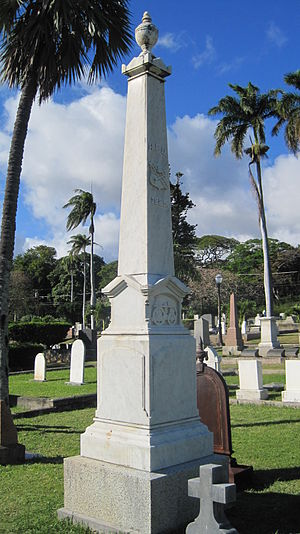 Oahu Cemetery - Honolulu Fire Department memorial, 1885