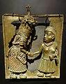 Oba Akenzua II greets Queen Elizabeth II, Benin City, Nigeria, No. 2010.01.0001 - Etnografiska museet - Stockholm, Sweden - DSC01010.JPG