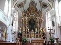 Oberau, Kath. Pfarrkirche hl. Margaretha, Altarraum.JPG