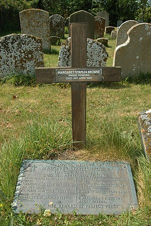 Makereti Papakura - Margaret Staples-Browne's grave in Oddington