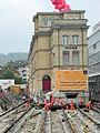 Oerlikon - 'Gleis 9' während der Gebäudeverschiebung 2012-05-23 15-38-40 (P7000).JPG