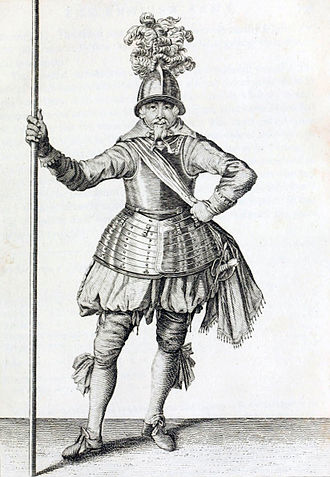 Battle of Cartagena de Indias (1586) - An English officer of Pikemen