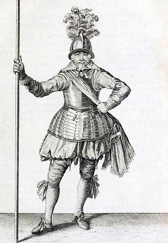 Battle of Cartagena de Indias (1586) - An English officer of Pikemen