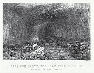 Ogof cwm porth, ger llaw pont Nedd Fon