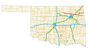 Oklahoma State Highway 20 - Image: Ok 20 path