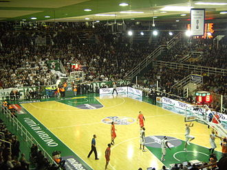 S.S. Felice Scandone - Scene of a home game of Avellino versus Olimpia Milano in 2010