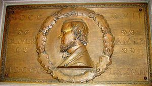 Oliver Ames Jr. - Bas relief by Augustus Saint-Gaudens