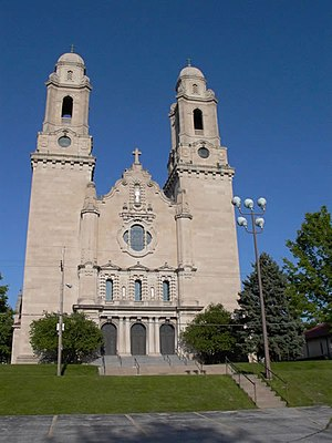 Christianity in Omaha, Nebraska - St. Cecilia Cathedral, which took 54 years, from 1905 to 1959, to be completed and consecrated.