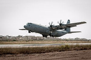 Léopold Sédar Senghor International Airport - (Operation United Assistance) Hercules AC-130 departs November 2014