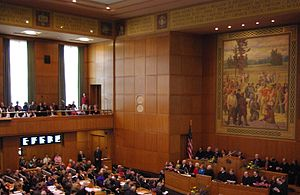 Opening of 2009 Oregon legislature