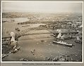 Orient liner SS Orford passing under Sydney Harbour Bridge, 19 March 1932 (6173530359).jpg