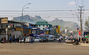 Osh, with Sulayman Mountain in the background