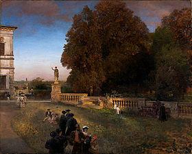 Oswald Achenbach - Im Park der Villa Borghese (1886).jpg