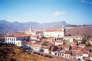 Ouro Preto and its colonial Portuguese architecture.