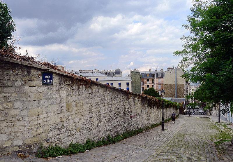 Fichier:P1260949 Paris XVIII rue des Saules cimetiere St-Vincent rwk.jpg
