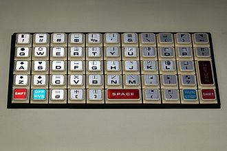 Commodore PET - The chiclet keyboard of the PET 2001 series